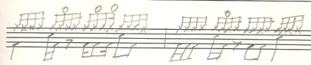 Sixteenth notes on HH