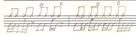 Eighth notes on HH.