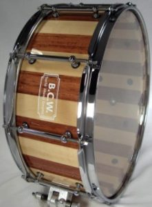 Bubinga-Maple Stave Shell Drum